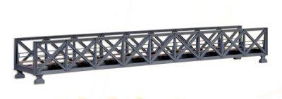 Brücke, Stahl-Unterzugbrücke, 1-gleisig <br/>kibri 39703