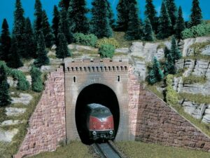 Tunnel-Portal, 1-gleisig <br/>Vollmer 42501
