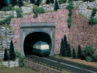 Tunnel-Portal, 2-gleisig <br/>Vollmer 42502