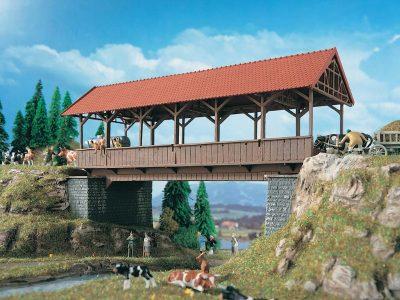 Brücke, Stegbrücke überdacht <br/>Vollmer 42515
