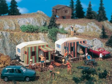 Campingwagen, 2 Stück <br/>Vollmer 45145 1