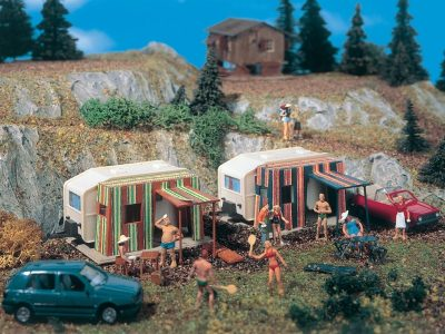 Campingwagen, 2 Stück <br/>Vollmer 45145