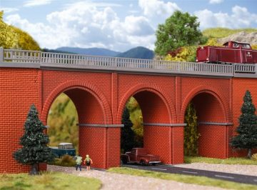 Brücke, Backstein-Viadukt, gerade <br/>Vollmer 47313 2