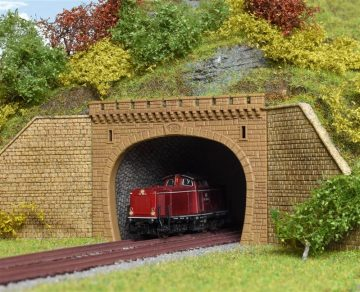 Tunnel-Portal, 2-gleisig <br/>Vollmer 47812 2