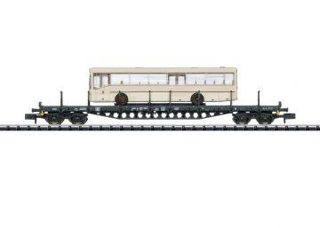 Flachwagen mit Bus DB <br/>TRIX 15862 1