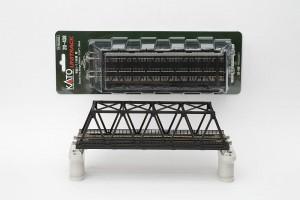 Kastenbrücke schwarz 2-gleisi <br/>KATO 7077212