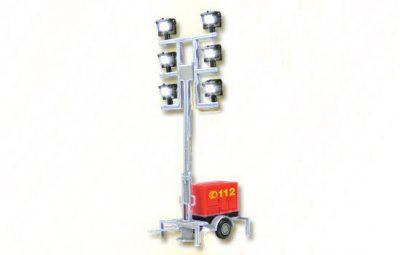 Leuchtgiraffe Feuerwehr auf Anhänger <br/>Viessmann 1344