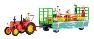 kibri 12226 <br/>LANZ Traktor mit Festwagen 2