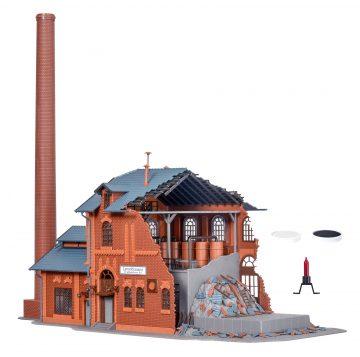 Vollmer 45601 <br/>Fabrik, brennend, mit Flackerlicht 3