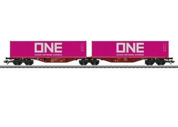 Märklin 47808 <br/>Doppel-Containertragwagen Sggrss 1