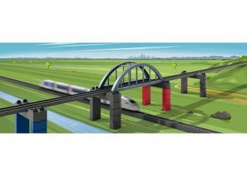 Märklin 72218 <br/>Märklin my world – Baustein-Set Hochbahn-Brücke 3