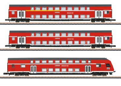 Märklin 87297 <br/>Doppelstockwagen-Set