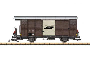 LGB 43813 <br/>Güterwagen, gedeckt, RhB 1