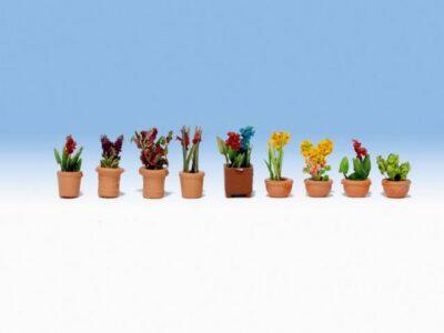 NOCH 14080 <br/>Zierpflanzen in Blumentöpfen