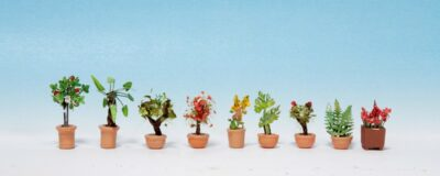 NOCH 14082 <br/>Zierpflanzen in Blumenkübeln