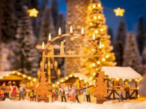NOCH 14391 <br/>Weihnachts-Markt Eingangsbogen, H0