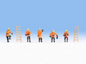 NOCH 15022 <br/>Feuerwehr (orange Schutzanzüge)