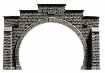 NOCH 34852 <br/>Tunnel-Portal, 2-gleisig, 12,3 x 8,5 cm 1