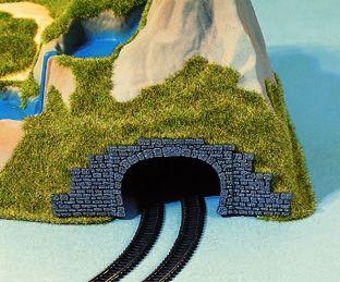 NOCH 44430 <br/>Tunnel-Portal, 2-gleisig, 12 x 4 cm