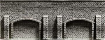 NOCH 44920 <br/>Arkadenmauer, 13 x 7 cm 1