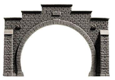 NOCH 48052 <br/>Tunnel-Portal, 2-gleisig, 16 x 10,5 cm