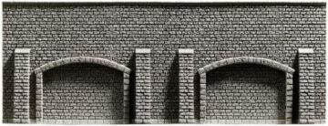 NOCH 48059 <br/>Arkadenmauer, extra-lang, 51,6 x 9,8 cm 1