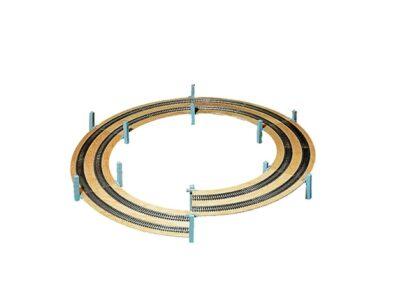 NOCH 53101 <br/>LAGGIES Gleiswendel-Komplettbausatz, Aufbaukreis,