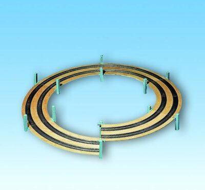 NOCH 53105 <br/>LAGGIES Gleiswendel-Komplettbausatz, Aufbaukreis,