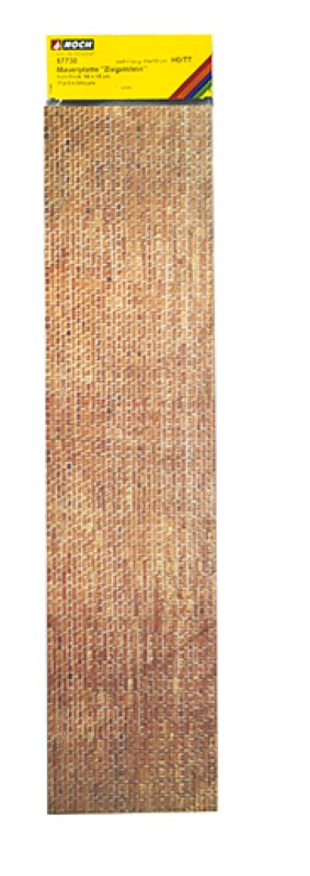 """NOCH 57730 <br/>Mauerplatte """"Ziegelstein"""", extra lang 1"""