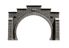 NOCH 58052 <br/>Tunnel-Portal, 2-gleisig, 21 x 14 cm