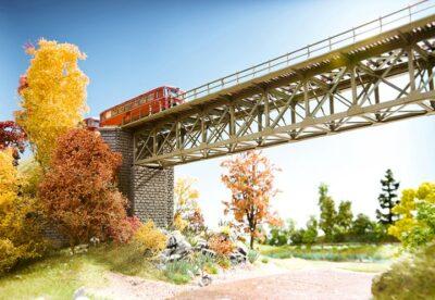 NOCH 67020 <br/>Brücke, Stahlbrücke, 37,2 cm lang