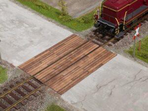 NOCH 67105 <br/>Bahnübergang Holzbohlen