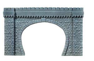 NOCH 67360 <br/>Tunnel-Portal, 2-gleisig, 64 x 37 cm