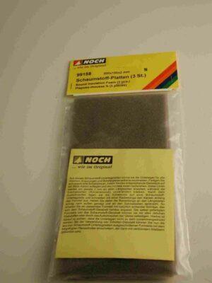 NOCH 99168 <br/>MÖSSMER Schaumstoff-Platten mit grauem Schotter