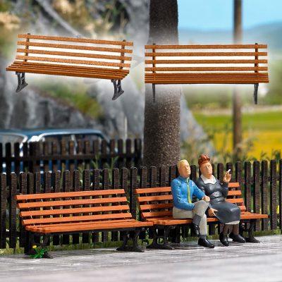 BUSCH 10300 <br/>Sitzbänke, 2 Stück