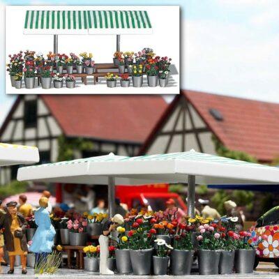 BUSCH 1072 <br/>Marktstand »Blumen«