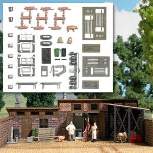 BUSCH 1171 <br/>Ausgestaltungs-Set »Schlachterei«