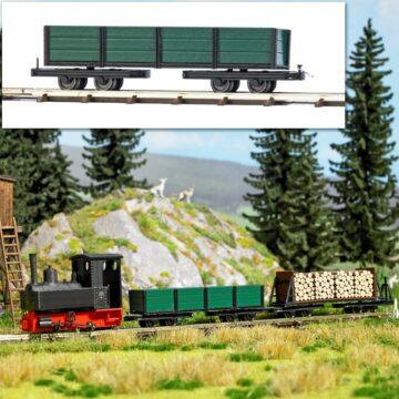 BUSCH 12246 <br/>Drehgestell-Niederbordwagen 1
