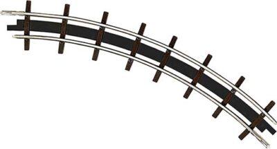 BUSCH 12323 <br/>Gleis, gebogen, Radius 115 mm, 45°, 2 Stück