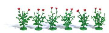 BUSCH 1248 <br/>Klatschmohnpflanzen, 6 Stück 1