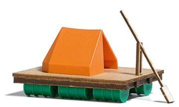 BUSCH 1564 <br/>Floß mit Zelt 1