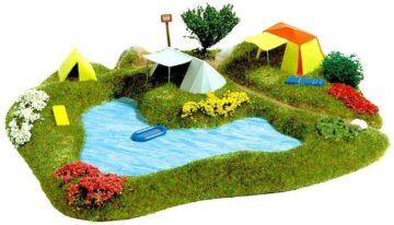 BUSCH 3108 <br/>Badesee mit Campingplatz 1