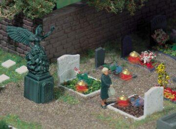 BUSCH 5404 <br/>Gräber mit Grableuchten 1