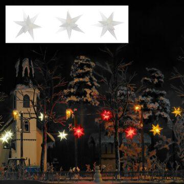 BUSCH 5414 <br/>Drei weiß leuchtende Weihnachtssterne 1