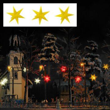 BUSCH 5415 <br/>Drei gelb leuchtende Weihnachtssterne 1