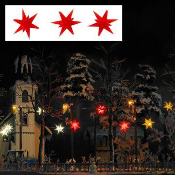BUSCH 5416 <br/>Drei rot leuchtende Weihnachtssterne 1