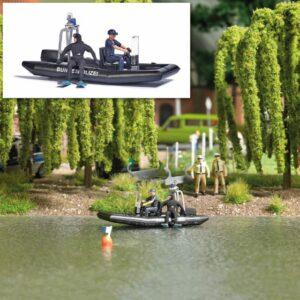 BUSCH 5485 <br/>See mit fahrendem Polizeiboot