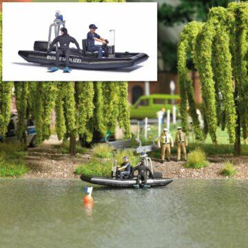BUSCH 5485 <br/>See mit fahrendem Polizeiboot 1