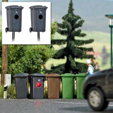 BUSCH 5633 <br/>Mülltonnenblitzer, 2 Stück 1