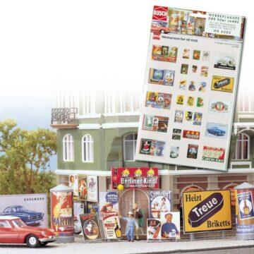 BUSCH 6002 <br/>Werbeplakat-Set Epoche 3 1